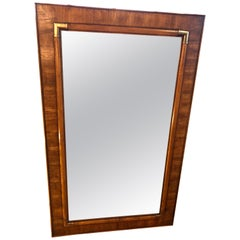 Drexel Heritage Faux Bamboo Mirror with Brass Accents
