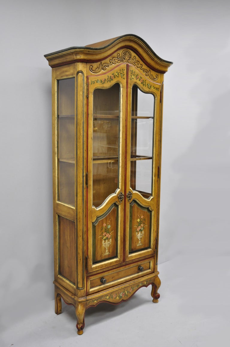 Drexel Heritage French Country Provincial Narrow Curio