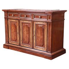 Drexel Heritage French Provincial Walnut Sideboard Server or Bar Cabinet
