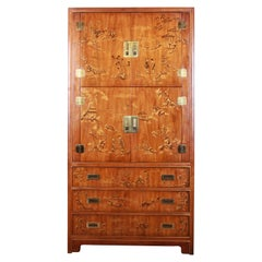 Drexel Heritage Hollywood Regency Chinoiserie Armoire Dresser