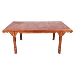 Drexel Heritage Hollywood Regency Chinoiserie Extension Dining Table, 1970s