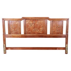 Drexel Heritage Hollywood Regency Chinoiserie King Size Headboard