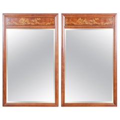 Drexel Heritage Hollywood Regency Chinoiserie Wall Mirrors, a Pair