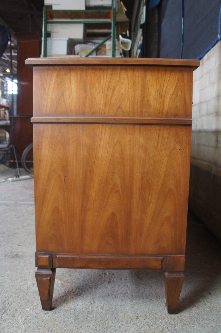 Drexel Heritage Modavanti Mediterranean Fruitwood Triple Dresser Chest of Drawer For Sale 5