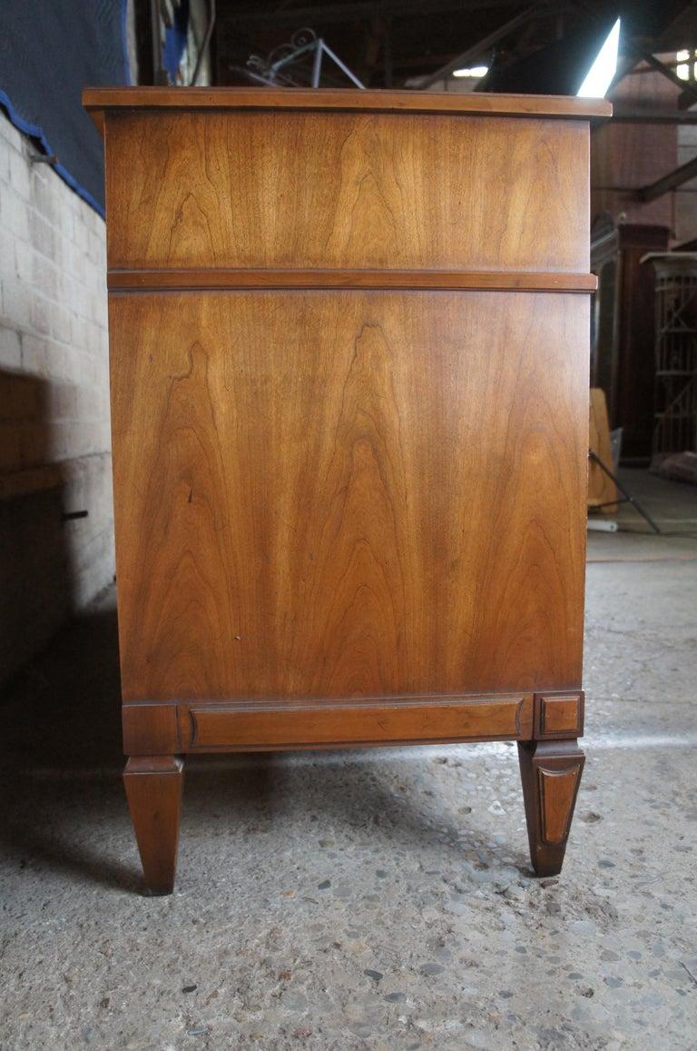 Drexel Heritage Modavanti Mediterranean Fruitwood Triple Dresser Chest of Drawer For Sale 6