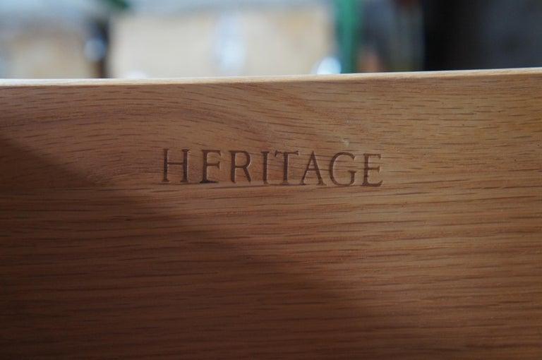 Mid-20th Century Drexel Heritage Modavanti Mediterranean Fruitwood Triple Dresser Chest of Drawer For Sale
