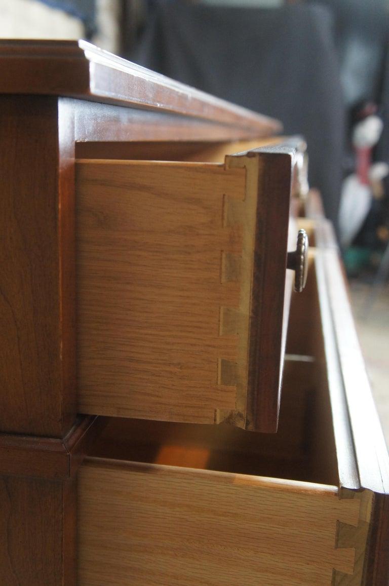 Drexel Heritage Modavanti Mediterranean Fruitwood Triple Dresser Chest of Drawer For Sale 3