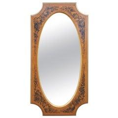 Drexel Heritage Movanti Mediterranea Fruitwood Stenciled Wall Mirror Over Mantel