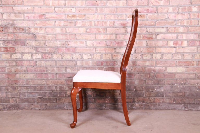 Drexel Heritage Queen Anne Mahogany Side Chair For Sale 1