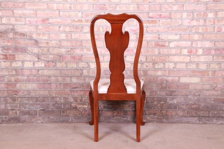 Drexel Heritage Queen Anne Mahogany Side Chair For Sale 2