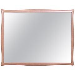 Drexel Mid-Century Modern Bleached Mahogany Framed Wall Mirror, 1950s