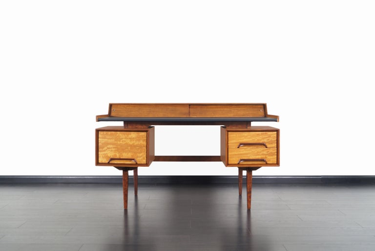 This spectacular vintage desk was designed by Milo Baughman for Drexel's