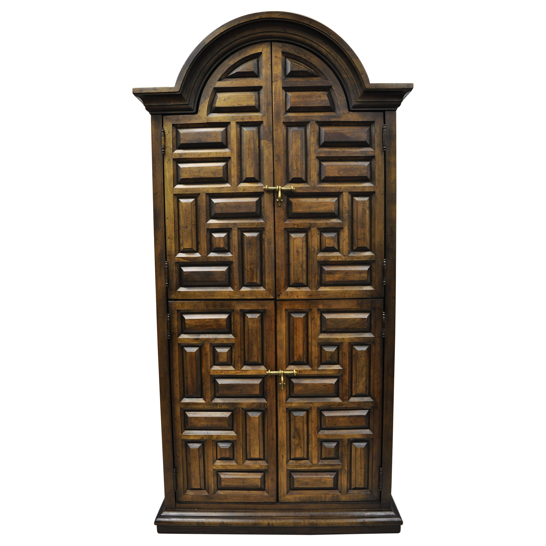 Drexel Villa Escalante Mediterranean Gothic Armoire Wardrobe Dresser Cabinet