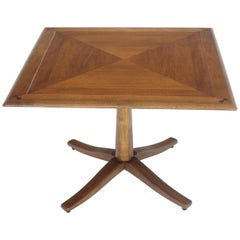 Drexel Walnut Square Occasional Side Table Stand