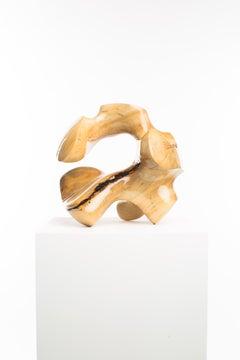 Driaan Claassen for Reticence, Abstract Geometric Sculpture, Wooden Sphere 008