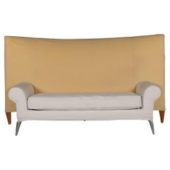 Driade Royalton Fabric Sofa Beige Two-Seater Couch by Philippe Starck