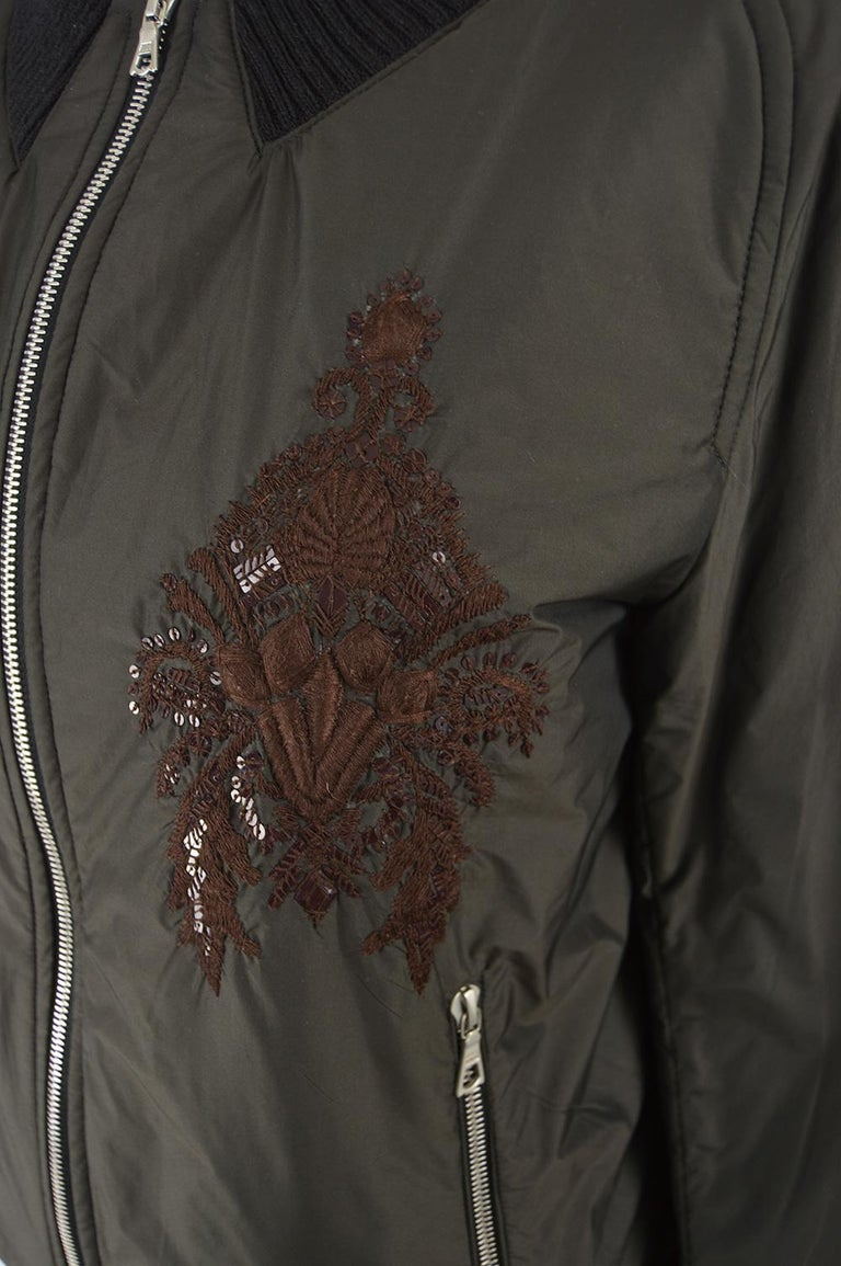 Dries Van Noten Architectural Fan Back Embroidered & Sequinned Bomber Jacket In Excellent Condition In Doncaster, South Yorkshire