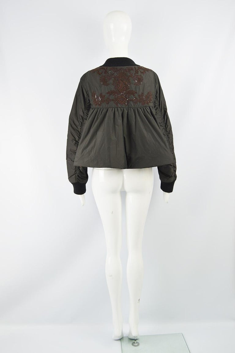 Dries Van Noten Architectural Fan Back Embroidered & Sequinned Bomber Jacket 3