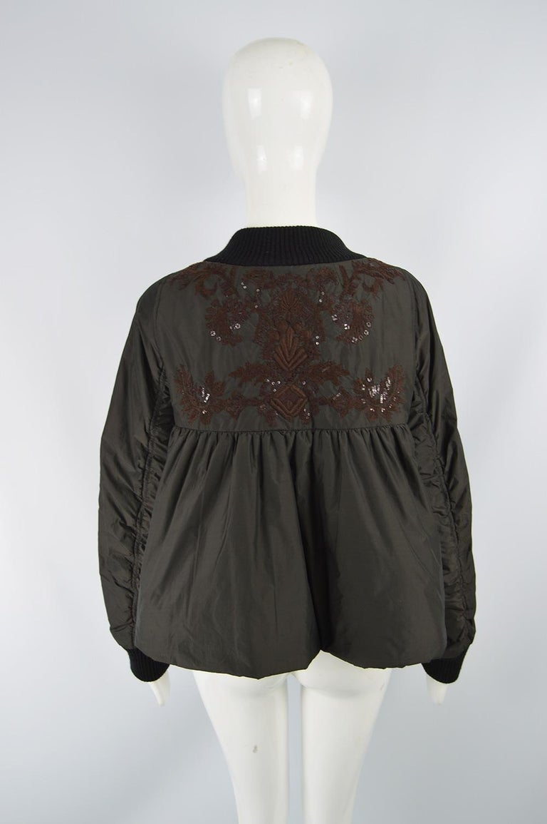 Dries Van Noten Architectural Fan Back Embroidered & Sequinned Bomber Jacket 4