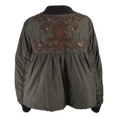 Dries Van Noten Architectural Fan Back Embroidered & Sequinned Bomber Jacket