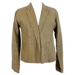 Dries Van Noten Beige Linen Casual Jacket