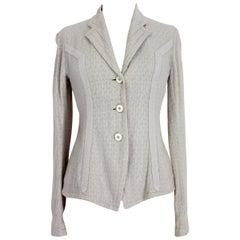 Dries Van Noten Beige Linen Cotton Slim Fit Jacket 2000s