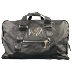 DRIES VAN NOTEN Black Coated Canvas Rectangle Duffle Bag