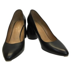 Dries Van Noten Black Leather Pumps