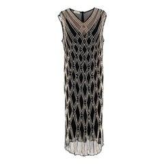 Dries Van Noten 'Detmer' Black Pearl Dress - Us size 10