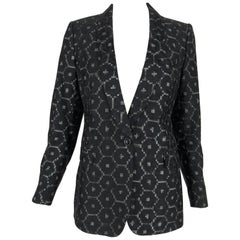 Dries Van Noten Geometric Shawl Collar Blazer