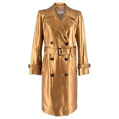 Dries Van Noten Gold Trench Coat S 38