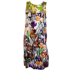 Dries van Noten Green, Blue, Orange, Purple, Black & White Sleeveless Day Dress