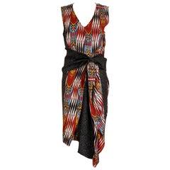 Dries Van Noten Ikat Print Silk Dress