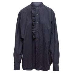 Dries Van Noten Navy Long Sleeve Button-Up