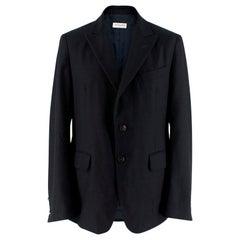 Dries Van Noten Navy Wool and Cashmere