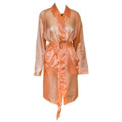 Dries Van Noten  Orange Light Weight Raincoat