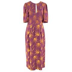 Dries Van Noten Raspberry Sequin Embroidered Dress XS IT40