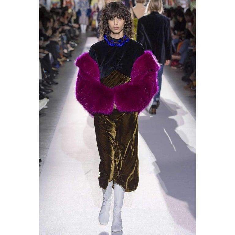 Women's Dries Van Noten Rimbald Faux Fur Jacket Large For Sale