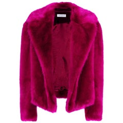 Dries Van Noten Rimbald Faux Fur Jacket Large