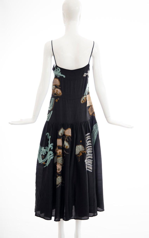 Dries Van Noten Runway Black Embroidered Dress, Spring 2006 For Sale 6