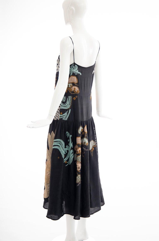 Dries Van Noten Runway Black Embroidered Dress, Spring 2006 For Sale 7