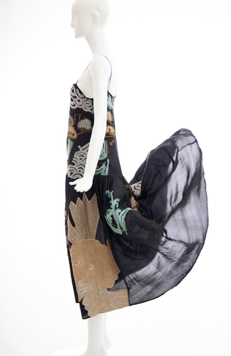 Dries Van Noten Runway Black Embroidered Dress, Spring 2006 For Sale 9