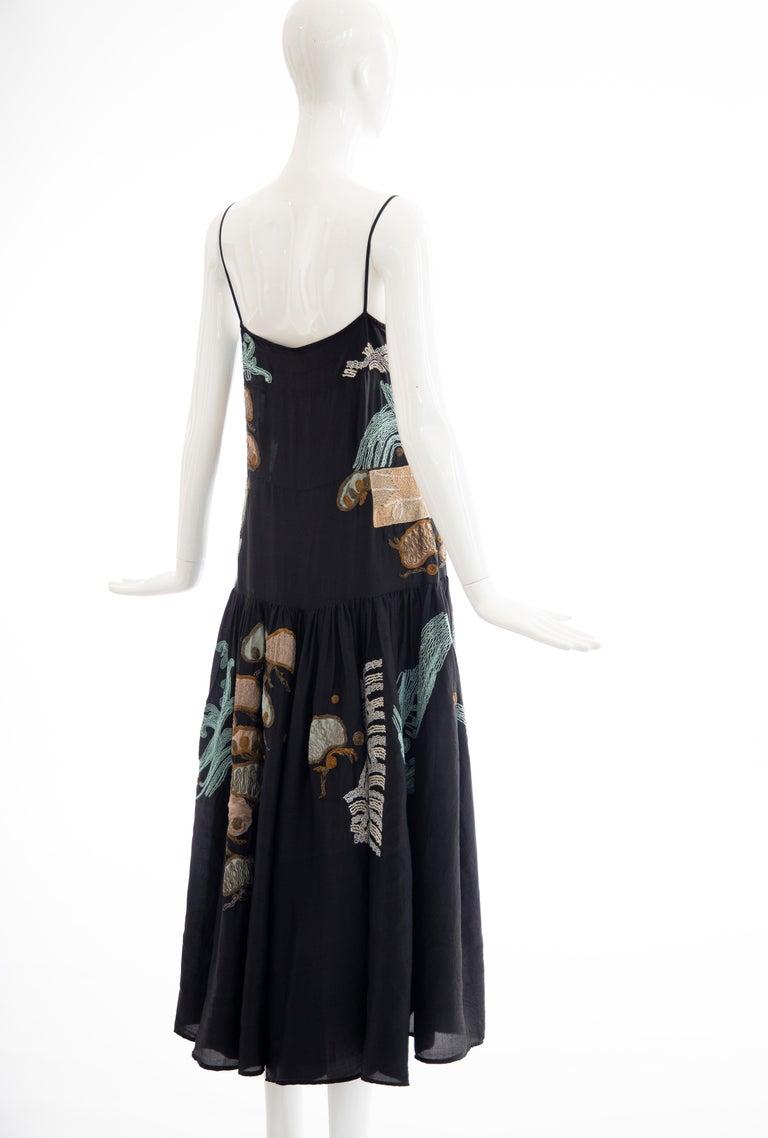 Dries Van Noten Runway Black Embroidered Dress, Spring 2006 For Sale 3