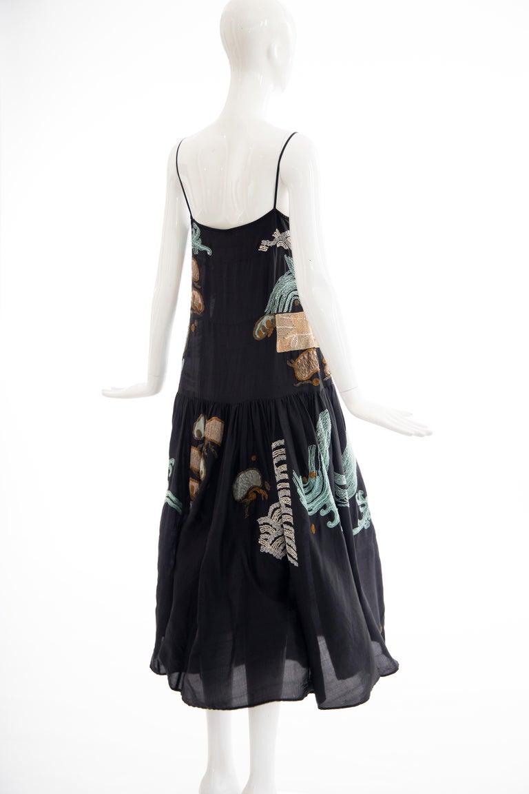 Dries Van Noten Runway Black Embroidered Dress, Spring 2006 For Sale 4
