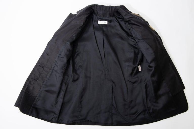 Dries van Noten Runway Black Wool Pinstripe Embroidered Jacket, Fall 2012 10