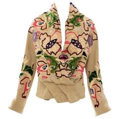 Dries Van Noten Runway Floral Embroidered Linen Jacket, Fall 2002