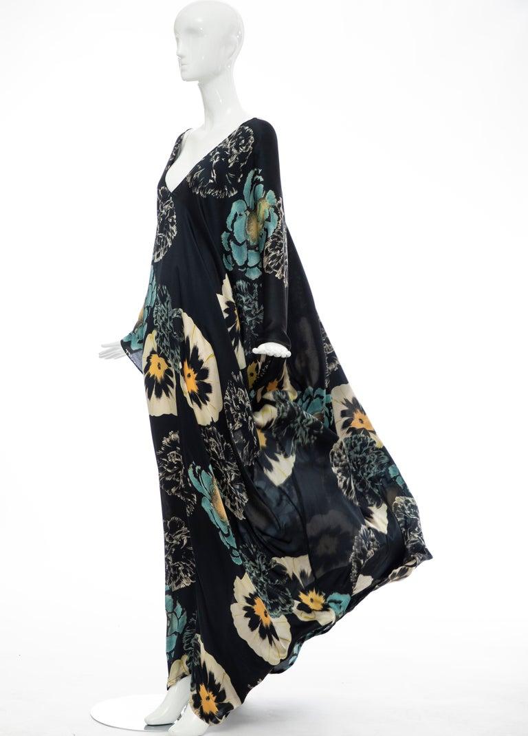 Dries Van Noten Runway Silk Floral Kaftan, Spring 2002 For Sale 9