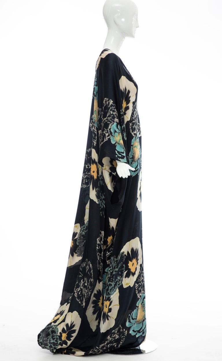 Dries Van Noten Runway Silk Floral Kaftan, Spring 2002 For Sale 3