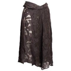 Dries Van Noten Sheer Floral Asymmetric Wrap Skirt
