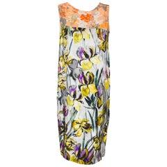 Dries Van Noten Silk Floral Multi Sleeveless Dress